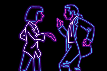 22 Animated Neon Posters From Classic Movies