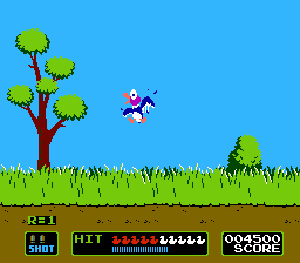 Duck Hunt is two player. A controller in port 2 controls the ducks.