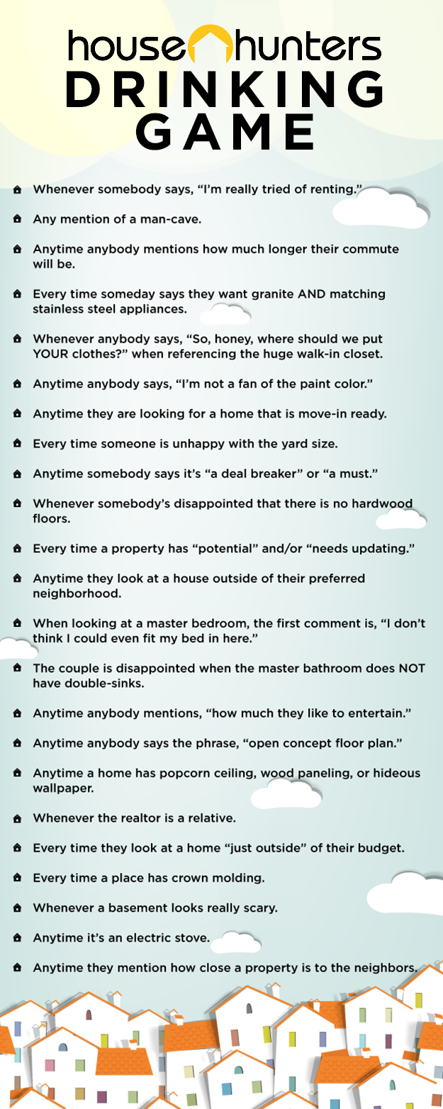 """The Ultimate """"House Hunters"""" Drinking Game"""