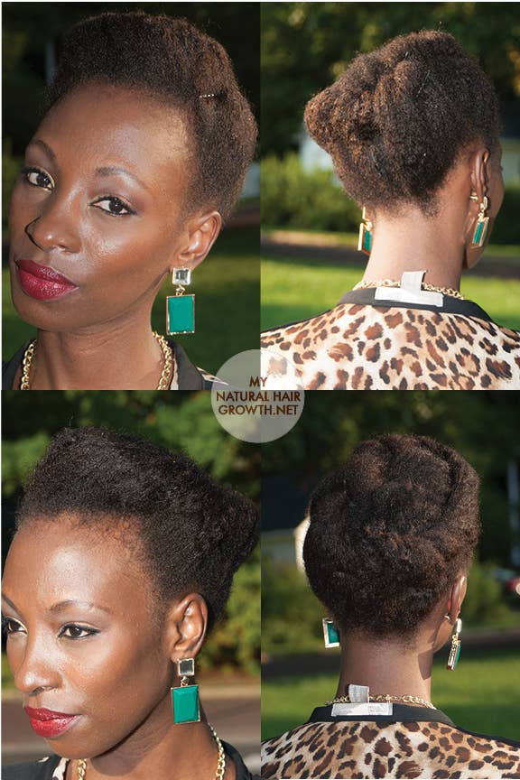 29 awesome new ways to style your natural hair 21 the simple tuck and pin urmus Gallery
