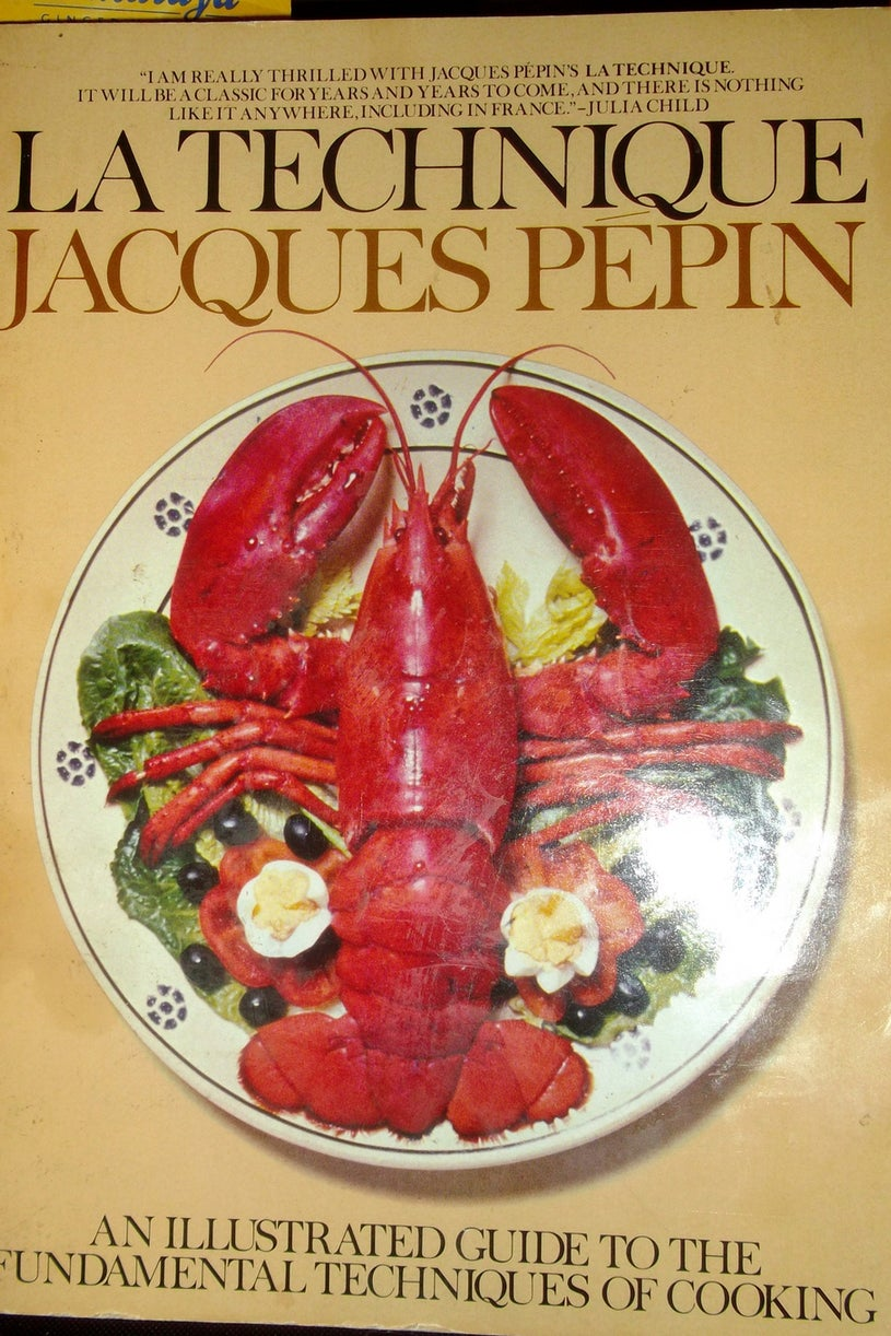 THE BOOK: La Technique: An Illustrated Guide to the Fundamental Techniques of Cooking, 1976, Jacques Pepin.
