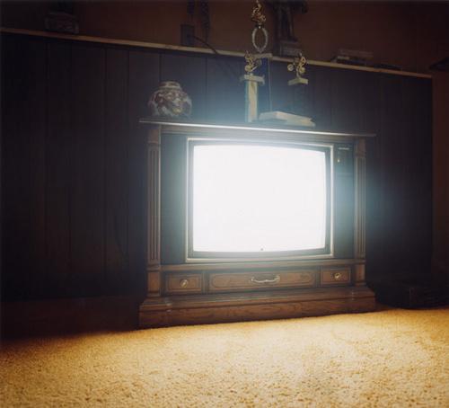 Fake a TV glow.