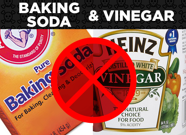 Baking Soda + Vinegar = Ineffective Cleaning Solution