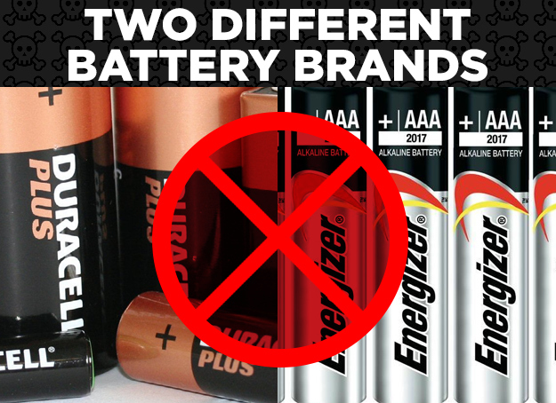 Two Different Battery Brands = Corrosion
