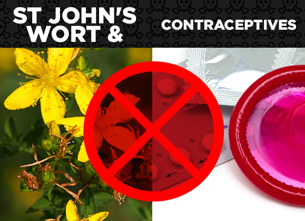 St. John's Wort + Contraceptives = Ineffective Birth Control