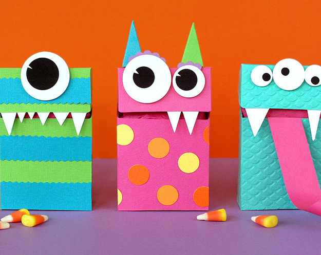 Halloween Bags halloween candy bags Do Some Creative Cutting To Create These Clever Monster Bags Perfect For Filling With Halloween Candy