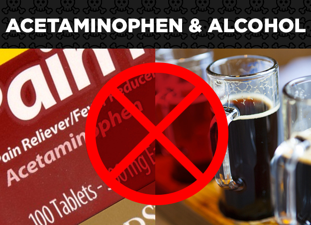 Acetaminophen + Alcohol = Irreversible Liver Damage