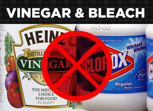 Bleach + Vinegar = Toxic Chlorine Gas