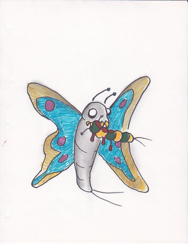 Butterflies are cannibals.