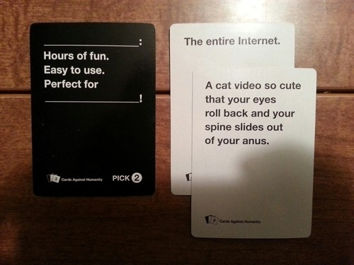 Image of: Twisted This 100 Accurate Description Of The Internet Buzzfeed 21 Hilarious Awkward And Painful Rounds Of Cards Against Humanity