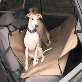 The backseat hammock will keep dogs from taking a tumble on a bumpy ride.