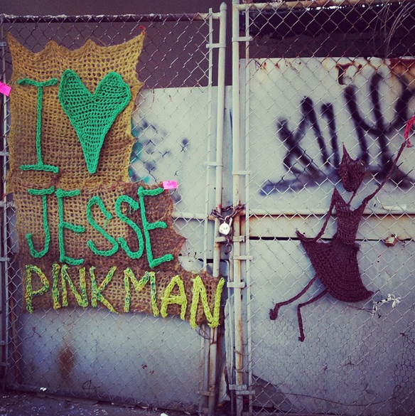"""There's A Yarn Bomb Tribute To """"Breaking Bad"""" In Brooklyn"""