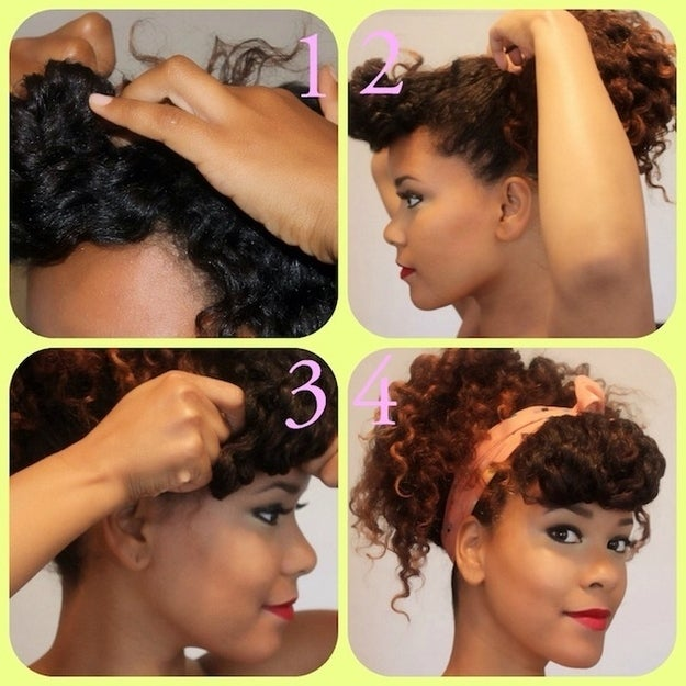Get the directions for this hairstyle here and get the twist out tutorial here.Here's a blog post on how to make your twist out last as long as possible.