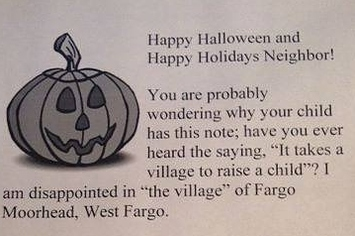 Woman In North Dakota Says She Will Hand Out Anti-Obesity Flyers To Overweight Trick-Or-Treaters