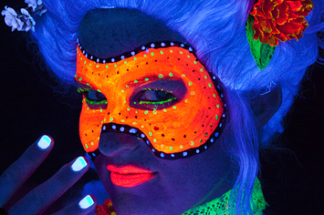 & 10 Easy Halloween Costume Ideas Using Only Black Light Makeup