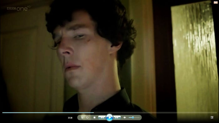 """The other day I was skimming Tumblr when I came across someone mentioning the outline of Irene Adler's lipstick on Sherlock's face after she'd drugged him, meaning she kissed him after returning his coat. I must have seen """"Scandal in Belgravia"""" 5 or 6 times, but I never noticed that. And then I took a closer look.I could watch this show a thousand times and still never discover every nuanced layer of genius built into it. This. This little, barely noticeable touch is why I love Sherlock."""