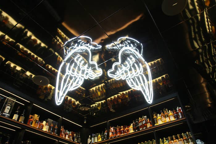 "Whisky stored in barrels evaporates at a rate of 4% every year. This process is known as the ""Angel's Share"". Pesky thieving Angels!"