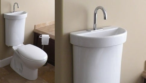 This version is from Japan and is water-efficient in addition to saving tons of space.