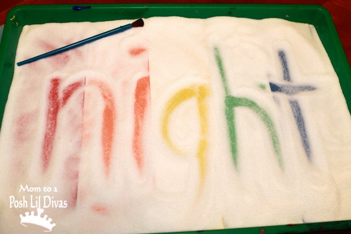This is a fun spelling activity for your lil' academic, but it's also the perfect canvas for many masterpieces.