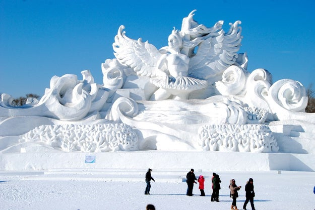 When: Jan. 5–Feb. 5Where: Harbin, China Why you should go: The Harbin festival is the largest snow and ice festival in the world, and it features carvings towering over 20 feet in height and full-size buildings made from gigantic blocks of ice.