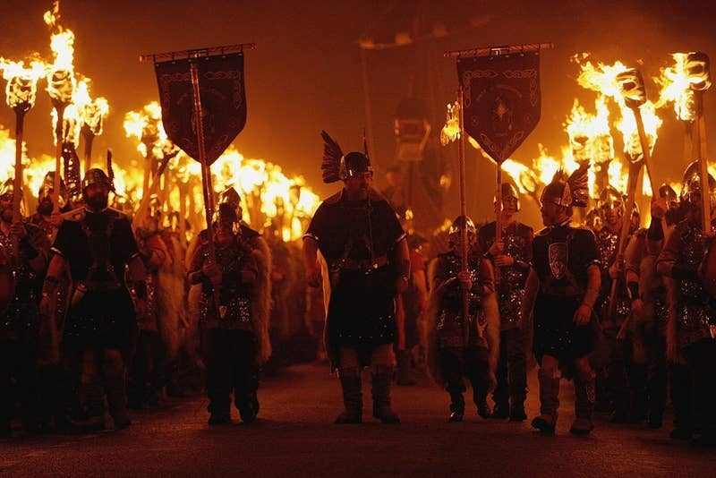 When: Last Tuesday in January Where: Lerwick, Scotland Why you should go: This is Europe's largest fire festival, complete with the burning of a full-scale Viking ship. Need we say more?