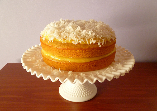 9. Or go nuts with this coconut cream cantaloupe cake