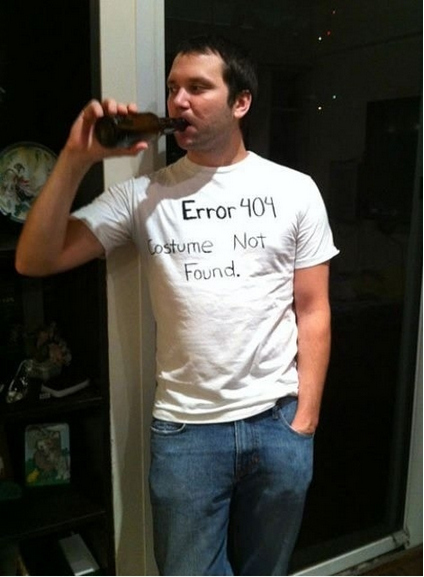 1. Take a Sharpie to a plain white tee and you get a 404 Error.  sc 1 st  BuzzFeed & 31 Insanely Clever Last-Minute Halloween Costumes