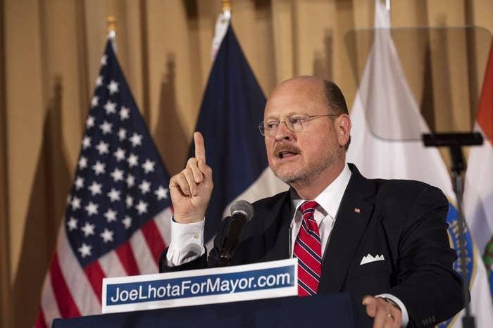 Republican Mayoral candidate Joe Lhota
