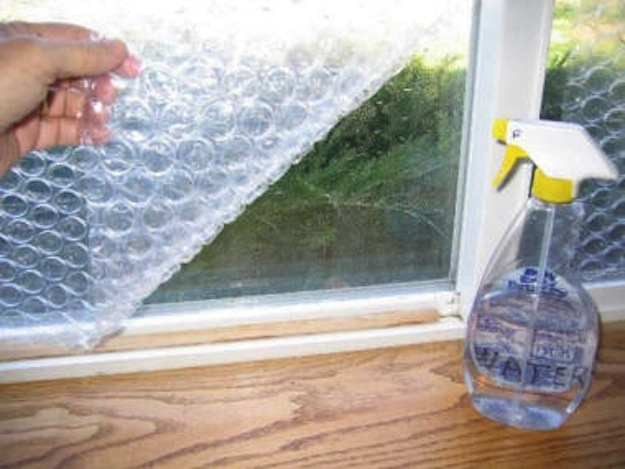 Bubble wrap can insulate windows in a pinch.