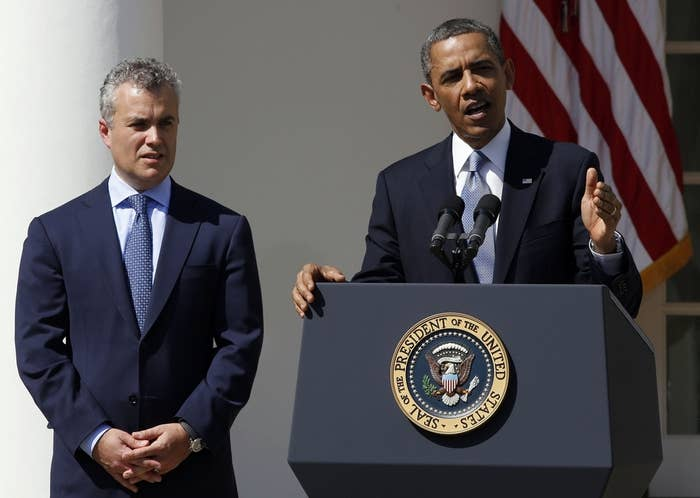 President Obama and Jeffrey Zients in April.