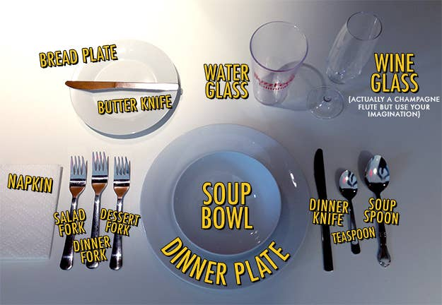 Hosts: If you're setting a table, only place utensils that will be used in the meal. Extraneous items make everyone feel like they're doing something wrong.Guests: When in doubt about, say, which fork to use, start from the outside and work your way inward.