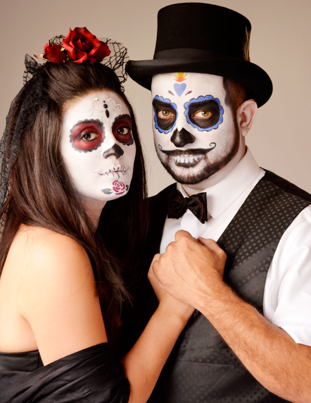 day of the dead makeup couple - photo #1