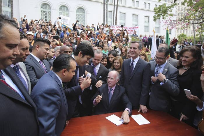California Governor Jerry Brown signed bill AB 60 into law this month — the law will let the state's undocumented immigrants to apply for a driver's license.