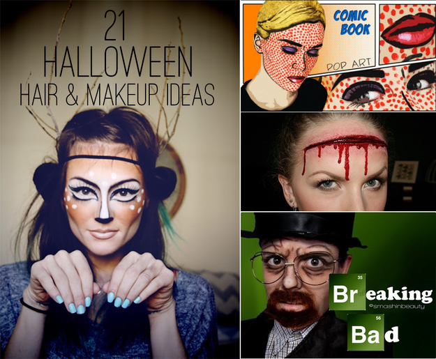 21 Easy Hair And Makeup Ideas For Halloween - Easy Costume Makeup Ideas