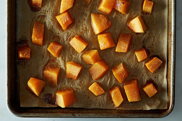 1. And something magical happens when you cook it. Take this basic roasted cantaloupe for instance