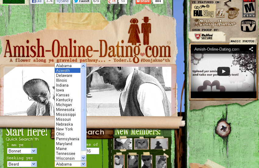 Amish dating service