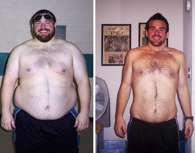 31 insanely clever last minute halloween costumes 4 buddy up with a thinner doppelganger and go as a before and after weight loss ad solutioingenieria