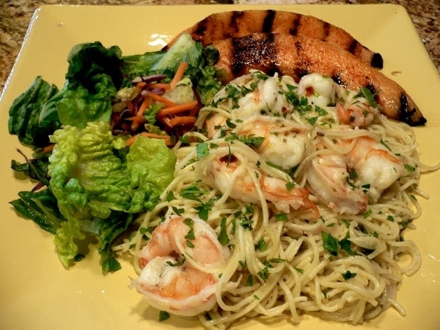 19. Grill cantaloupe and pair it with any number of items. Like shrimp scampi...