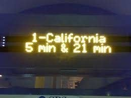 A seasoned MUNI rider is annoyed but never shocked when you're waiting for the bus and the NextBus abruptly shifts from arriving in 2 mins to 22 mins.