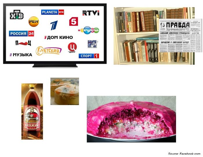Whether it was Russian TV, books, or food, you were completely immersed in a Russian culture bubble.