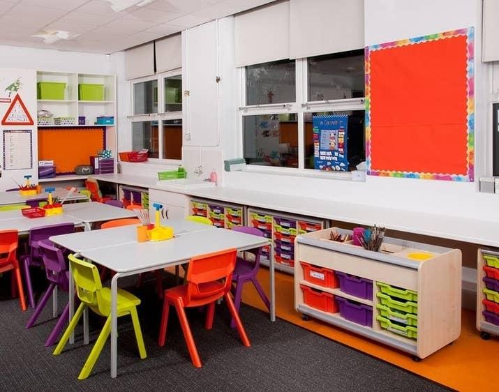 A Bright And Minimalist Classroom