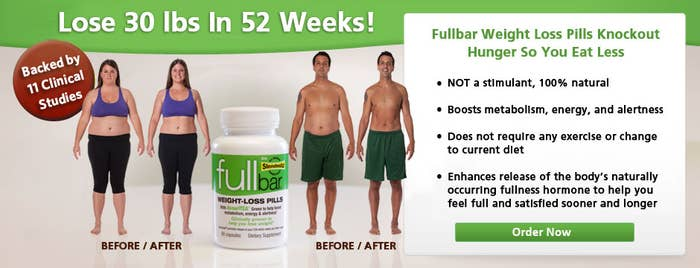 """If you're lucky, the word """"full"""" is in the name of the product...to reassure you that you won't starve while you're losing all this weight."""