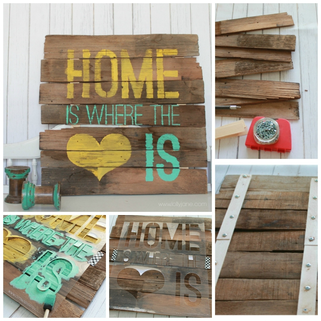 12 diy signs that just say it all for Ideas decoracion casa