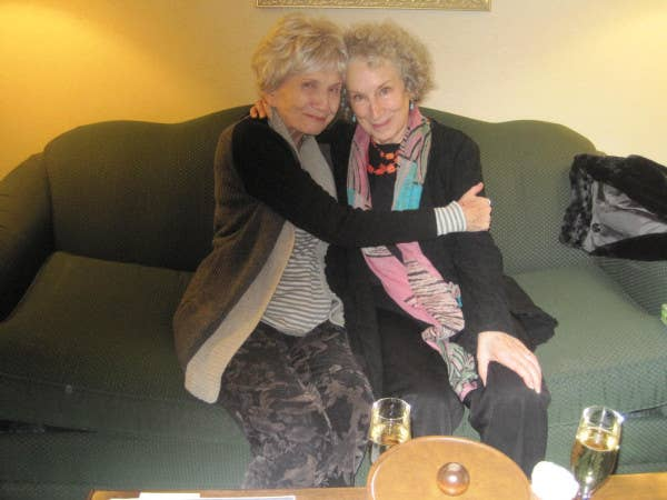 """""""In a secret lair in #victoria BC Empress Hotel, #Alice Munro and I have a quiet Hooray yesterday,"""" Atwood tweeted, making our hearts burst will gladness."""