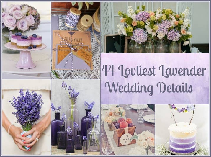 44 loveliest lavender wedding details share on facebook share junglespirit Gallery