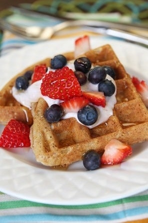 Healthy Whole Grain Waffles