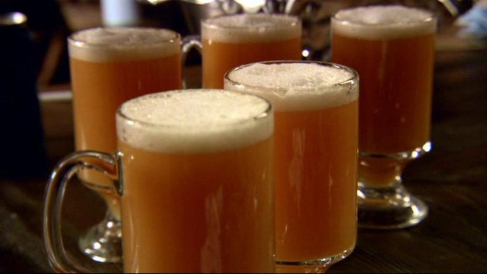 The recipe for a perfect tankard of butterbeer includes butterscotch, coziness, a few drops of scarf weather and a pinch of friendship. And probably a bit of alcohol. Forget Oktoberfest!
