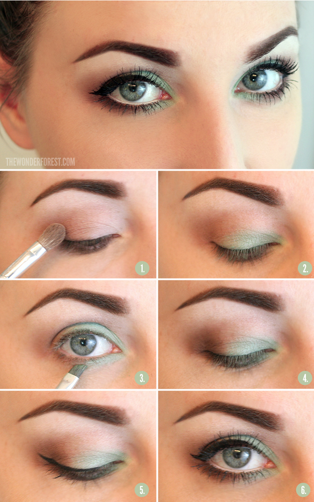Make your eyes pop by adding shadow to the inner rims.