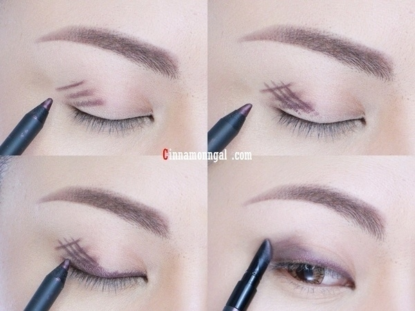 Crosshatch and smudge your usual liner for dark shadow effect.