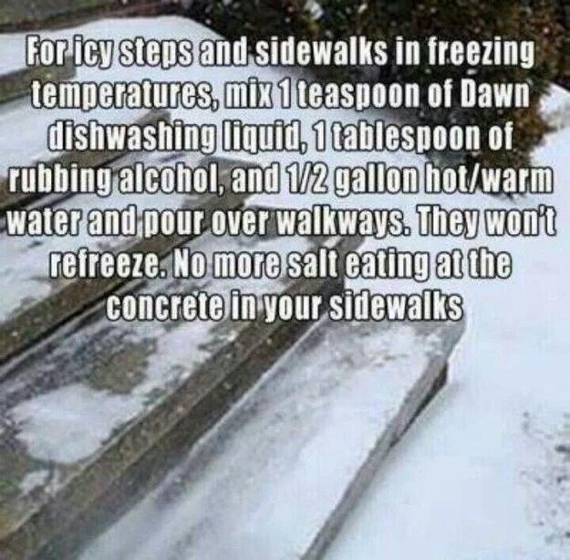 Consider this alternative to sidewalk salt.